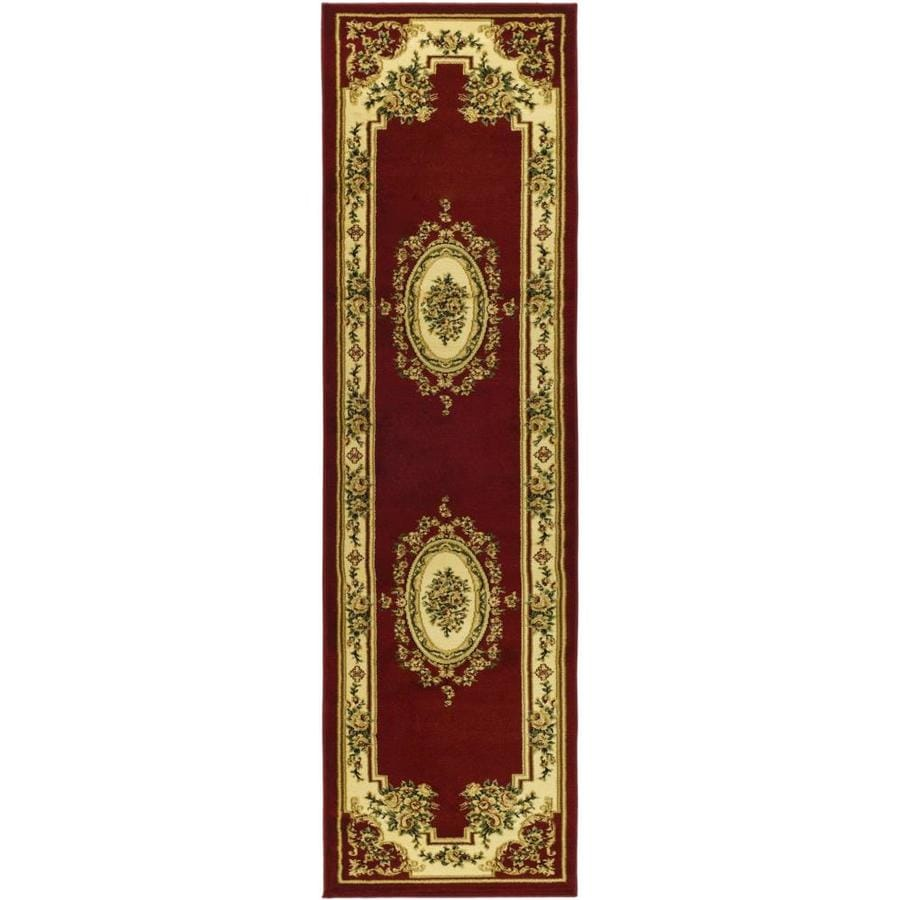Safavieh Lyndhurst Medallion Tabriz Red/Ivory Rectangular Indoor Machine-made Oriental Runner (Common: 2 x 8; Actual: 2.25-ft W x 8-ft L)