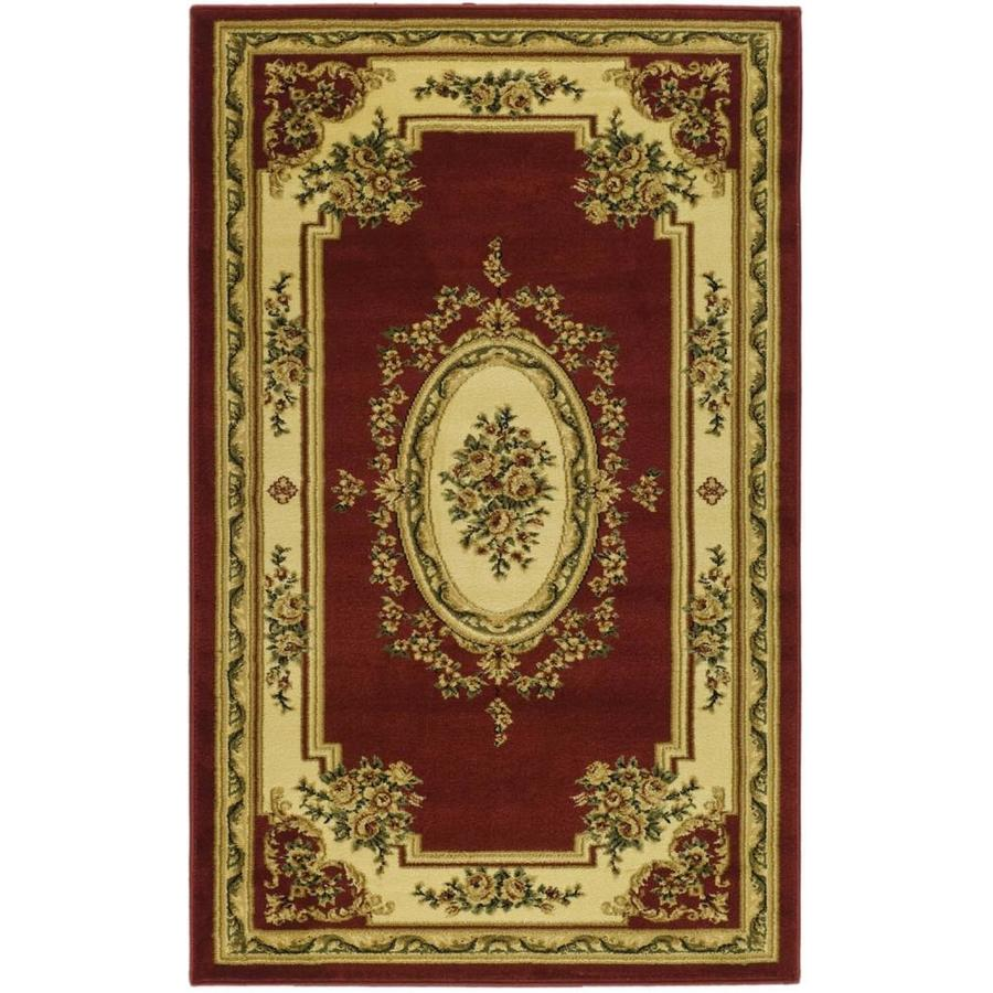 Safavieh Lyndhurst Medallion Tabriz Red/Ivory Indoor Oriental Throw Rug (Common: 3 x 5; Actual: 3.25-ft W x 5.25-ft L)