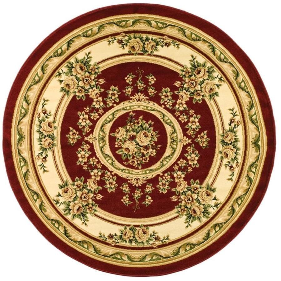 Safavieh Lyndhurst Medallion Tabriz Red/Ivory Round Indoor Machine-made Oriental Area Rug (Common: 5 x 5; Actual: 5.25-ft W x 5.25-ft L x 5.25-ft dia)