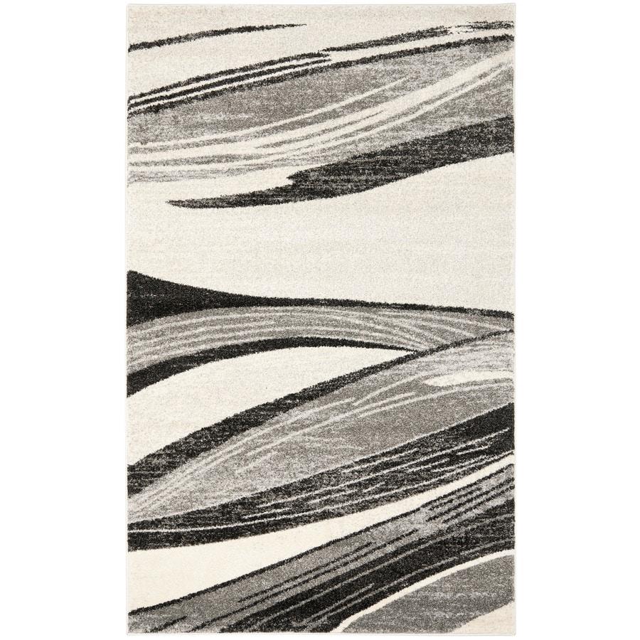 Safavieh Retro Pacifica Gray/Ivory Rectangular Indoor Machine-made Distressed Area Rug (Common: 5 x 7; Actual: 5-ft W x 8-ft L)