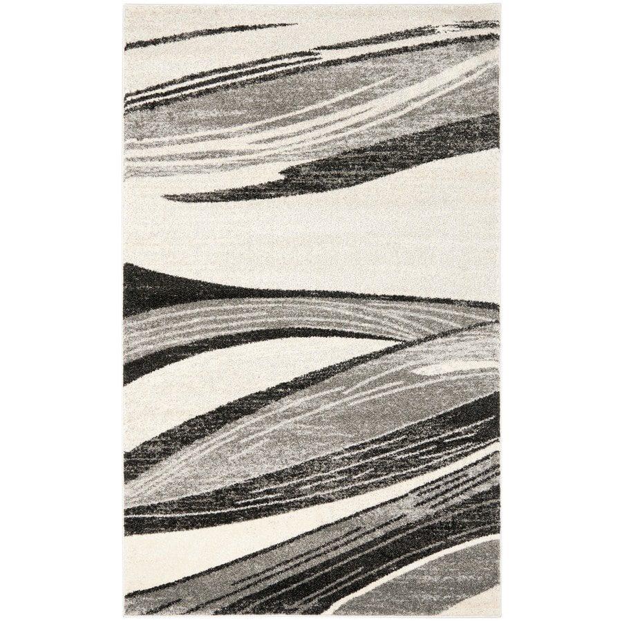 Safavieh Retro Gray/Ivory Rectangular Indoor Machine-Made Distressed Area Rug (Common: 8 x 10; Actual: 8-ft W x 10-ft L)