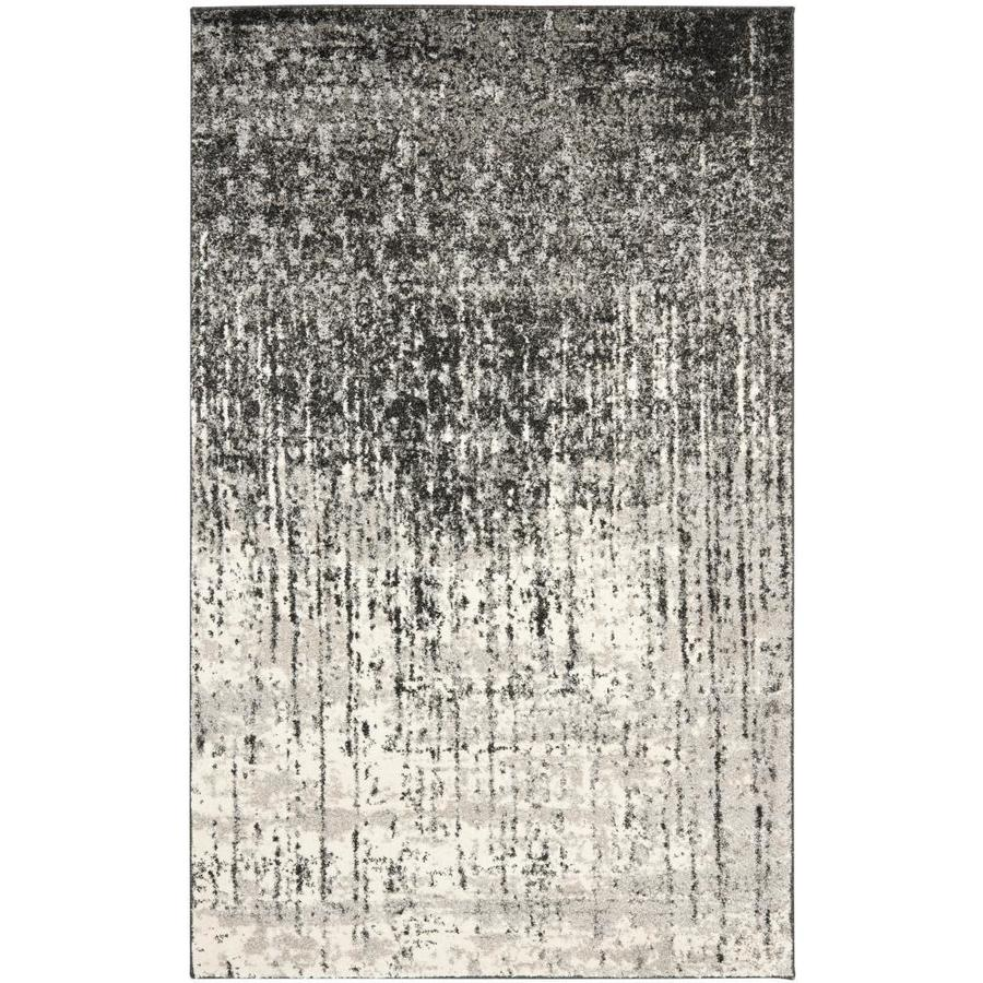 Safavieh Retro Elan Black/Light Gray Rectangular Indoor Machine-made Distressed Area Rug (Common: 8 x 10; Actual: 8-ft W x 10-ft L)