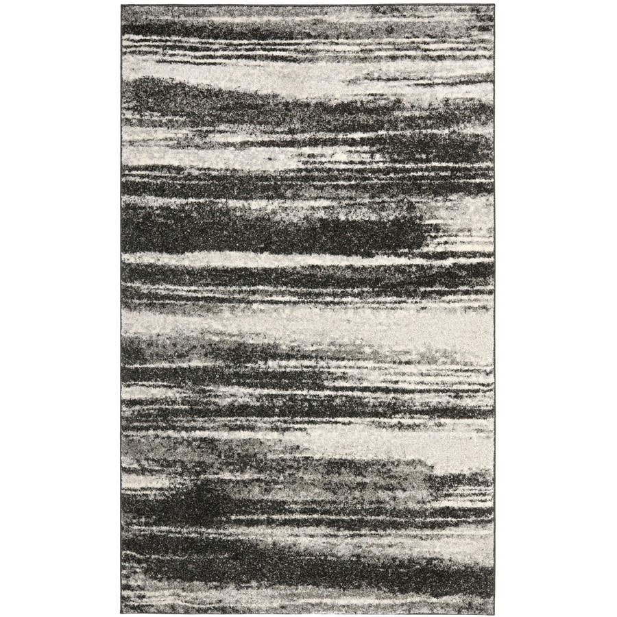 Safavieh Retro Fissure Dark Gray/Light Gray Rectangular Indoor Machine-made Distressed Area Rug (Common: 5 x 7; Actual: 5-ft W x 8-ft L)