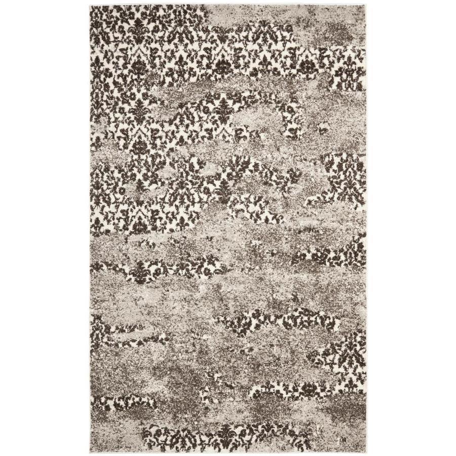 Safavieh Retro Delfia Beige/Light Gray Indoor Distressed Area Rug (Common: 4 x 6; Actual: 4-ft W x 6-ft L)