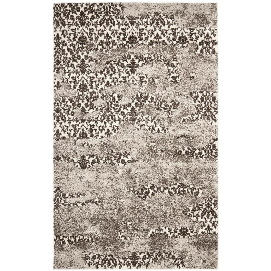 Safavieh Retro Delfia Beige/Light Gray Indoor Distressed Area Rug (Common: 5 x 8; Actual: 5-ft W x 8-ft L)