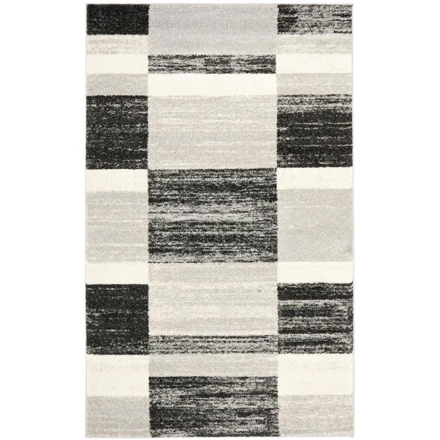 Safavieh Retro Shades Black/Light Gray Indoor Distressed Area Rug (Common: 8 x 10; Actual: 8-ft W x 10-ft L)