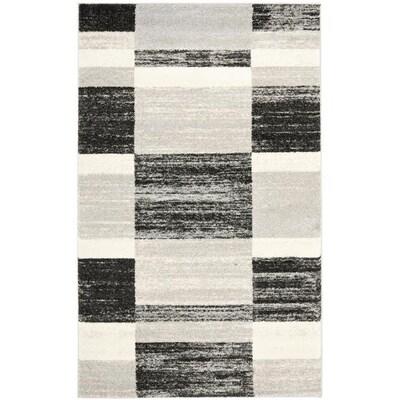 Safavieh Retro Shades Black Light Gray Rectangular Indoor