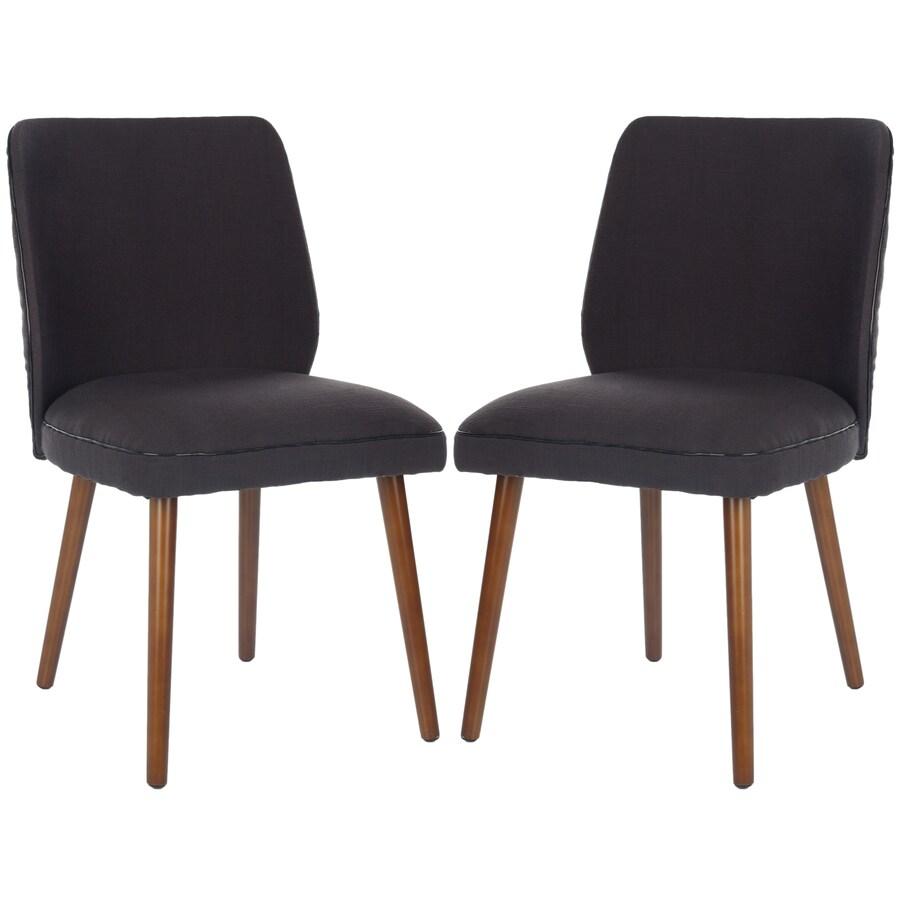 Safavieh Set of 2 Mercer Black Side Chairs