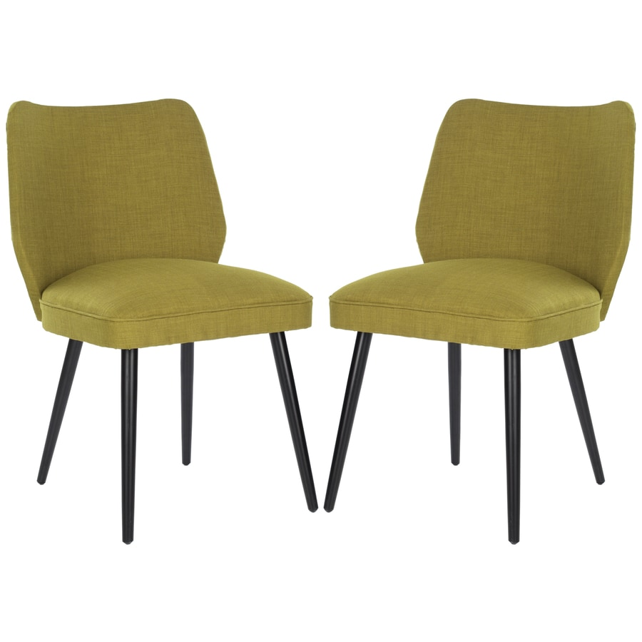 Safavieh Set of 2 Mercer Green Side Chairs