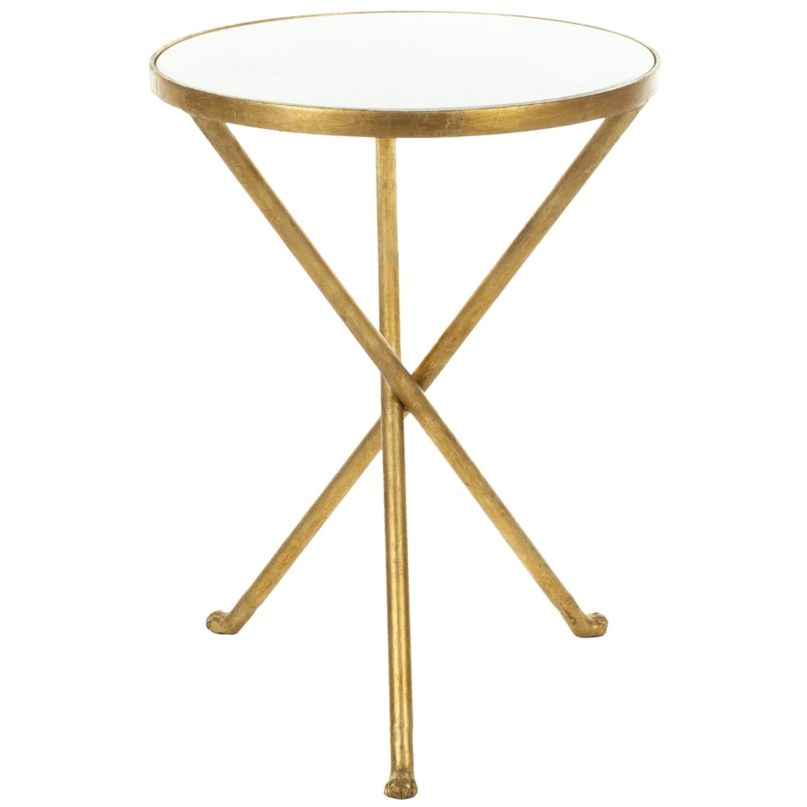 Safavieh Marcie White/Gold Legs End Table