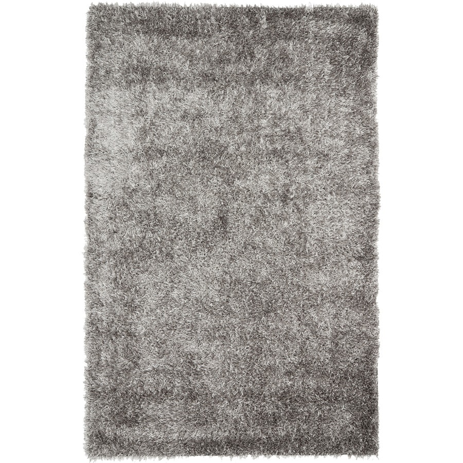 Safavieh New Orleans Shag Gray Handcrafted Area Rug (Common: 6 x 9; Actual: 6-ft W x 9-ft L)