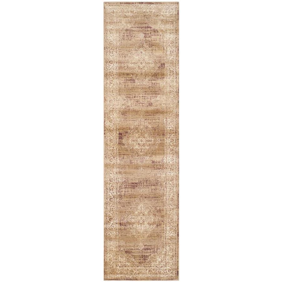 Safavieh Vintage Taupe Rectangular Indoor Machine-Made Distressed Runner (Common: 2 x 12; Actual: 2.167-ft W x 12-ft L x 0-ft Dia)