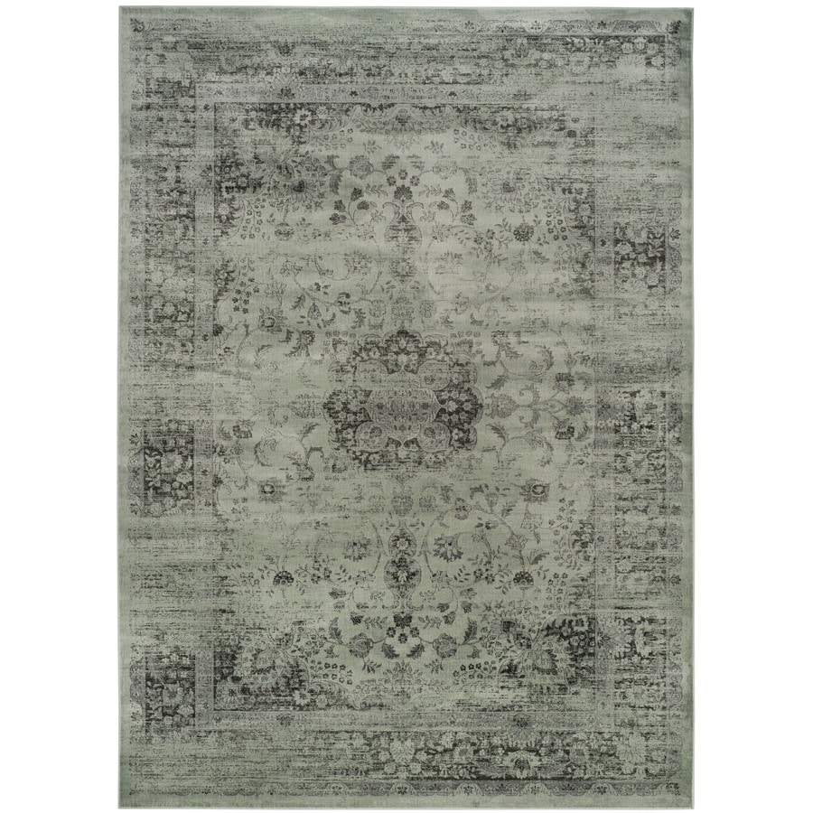 Safavieh Vintage Alhia Spruce/Ivory Rectangular Indoor Machine-made Distressed Area Rug (Common: 10 x 14; Actual: 10-ft W x 14-ft L)