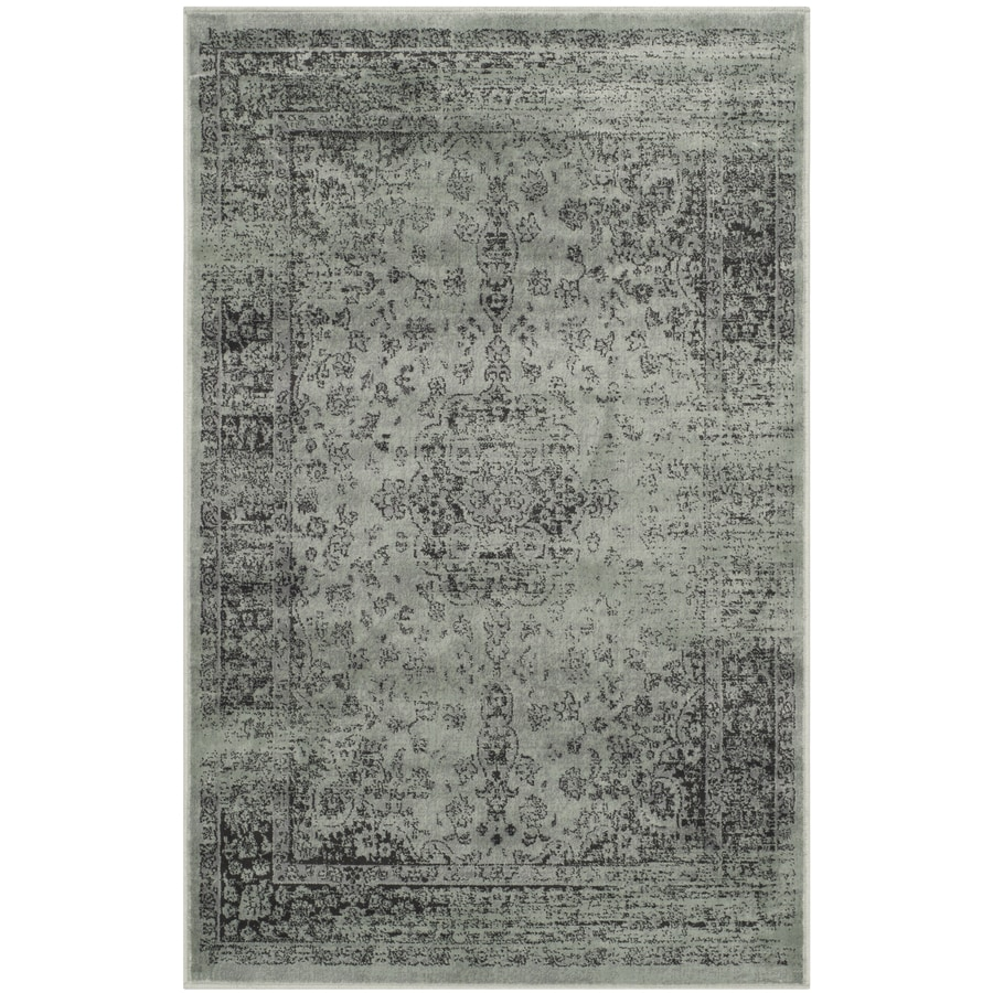 Safavieh Vintage Spruce/Ivory Rectangular Indoor Machine-Made Distressed Throw Rug (Common: 2 x 3; Actual: 2-ft W x 3-ft L)