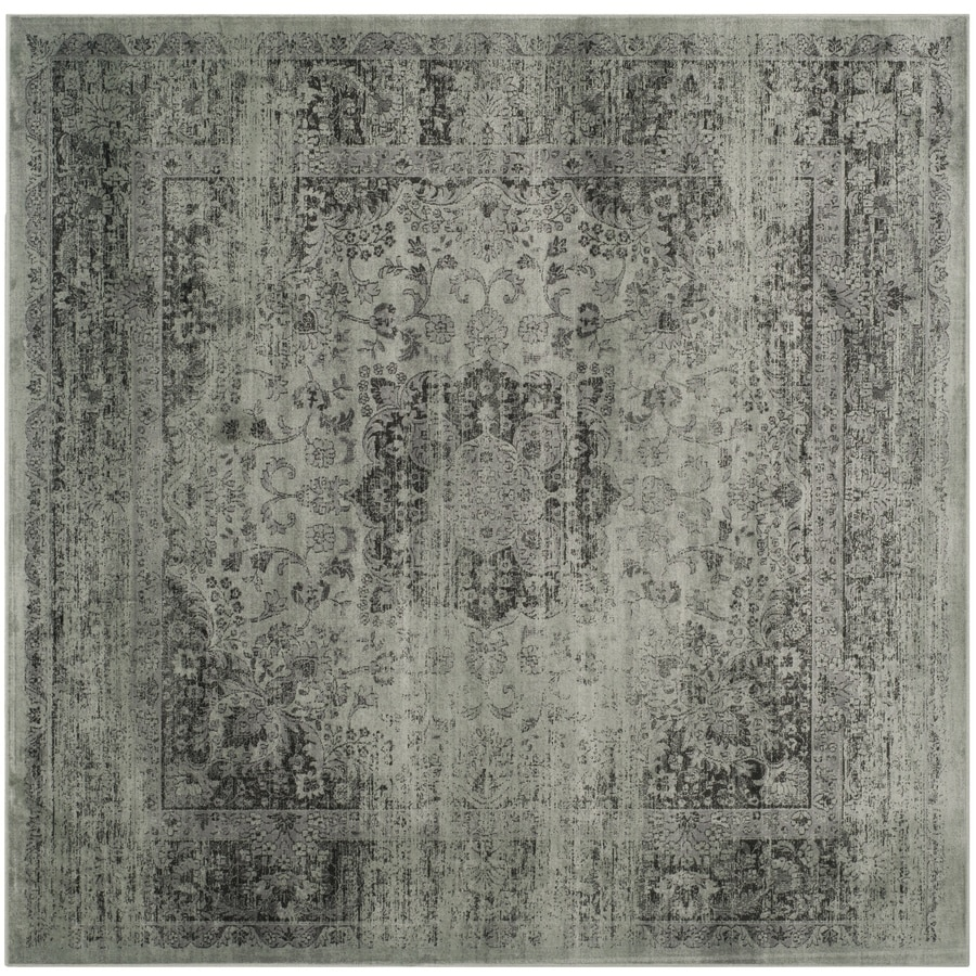 Safavieh Vintage Spruce/Ivory Square Indoor Machine-Made Distressed Area Rug (Common: 6 x 6; Actual: 6-ft W x 6-ft L)