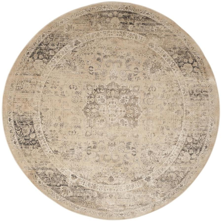 Safavieh Vintage Alhia Warm Beige Round Indoor Distressed Area Rug