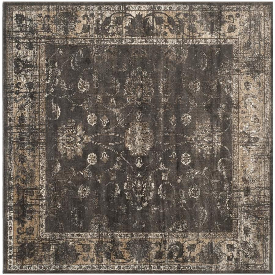 Safavieh Vintage Soft Anthracite Square Indoor Machine-Made Distressed Area Rug (Common: 6 x 6; Actual: 6-ft W x 6-ft L x 0-ft Dia)