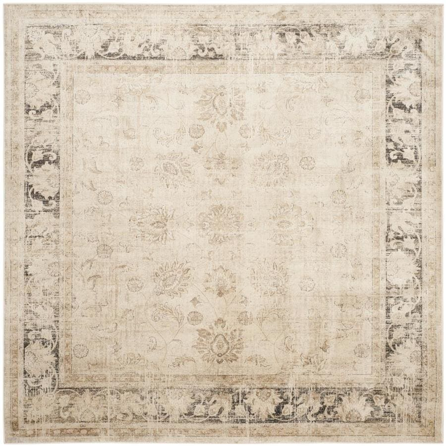 Safavieh Vintage Mosed Stone Square Indoor Machine-made Distressed Area Rug (Common: 6 x 6; Actual: 6-ft W x 6-ft L)