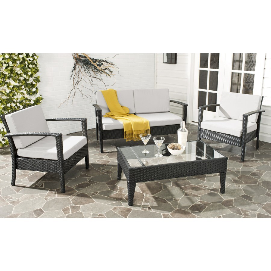 Safavieh Piscataway 4-Piece Plastic Patio Conversation Set
