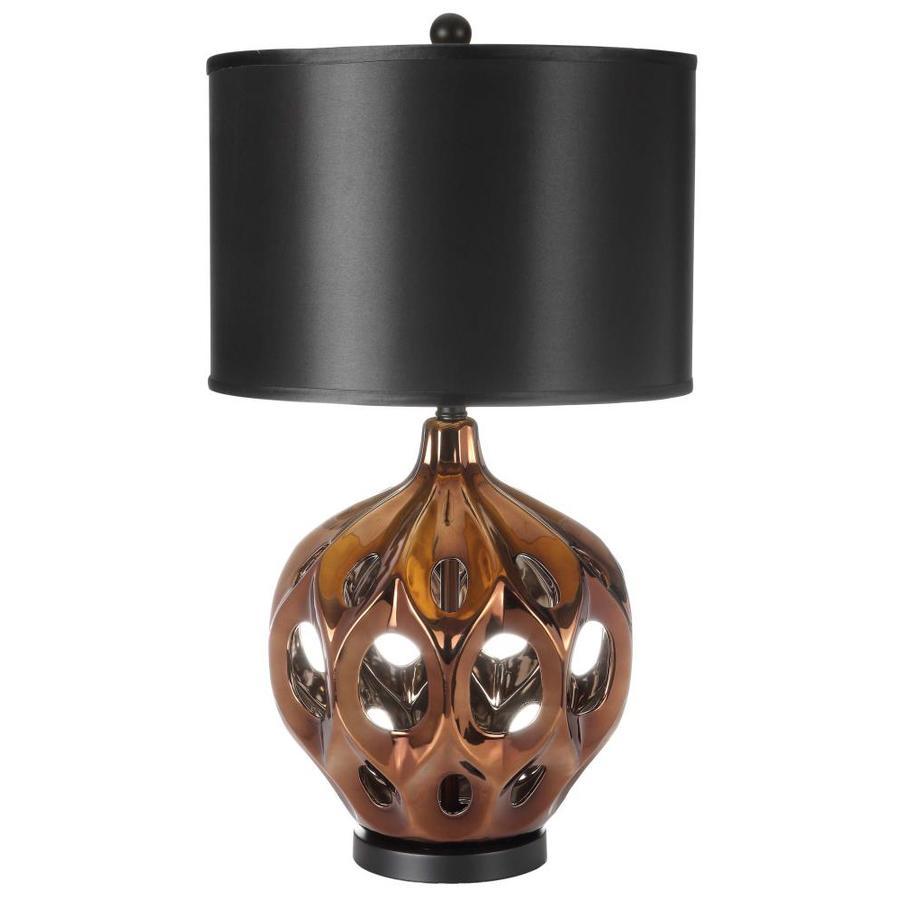 Safavieh Regina 29 In H Ceramic Table Lamp Gold Brown At Lowes Com