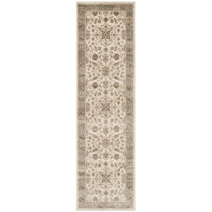Safavieh Vintage Kashan Stone/Mouse Rectangular Indoor Machine-made Distressed Runner (Common: 2 x 12; Actual: 2.2-ft W x 12-ft L)