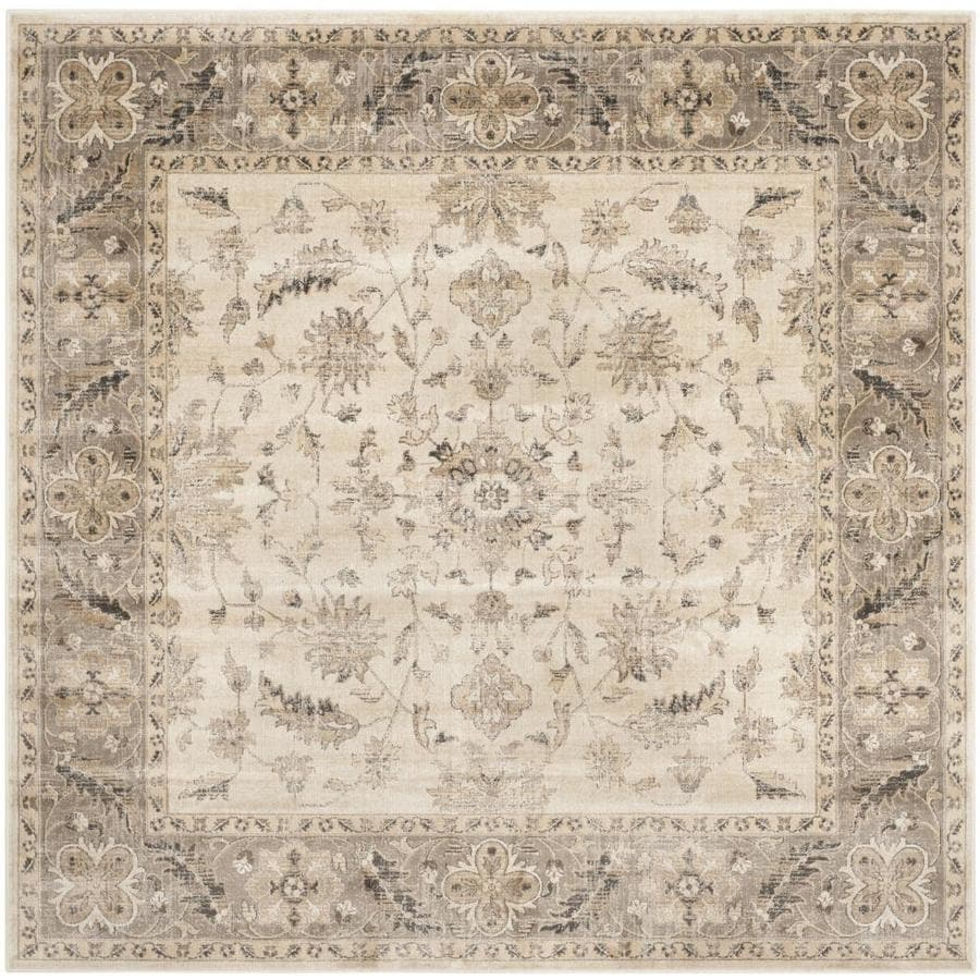 Safavieh Vintage Stone/Mouse Square Indoor Machine-Made Distressed Area Rug (Common: 6 x 6; Actual: 6-ft W x 6-ft L)