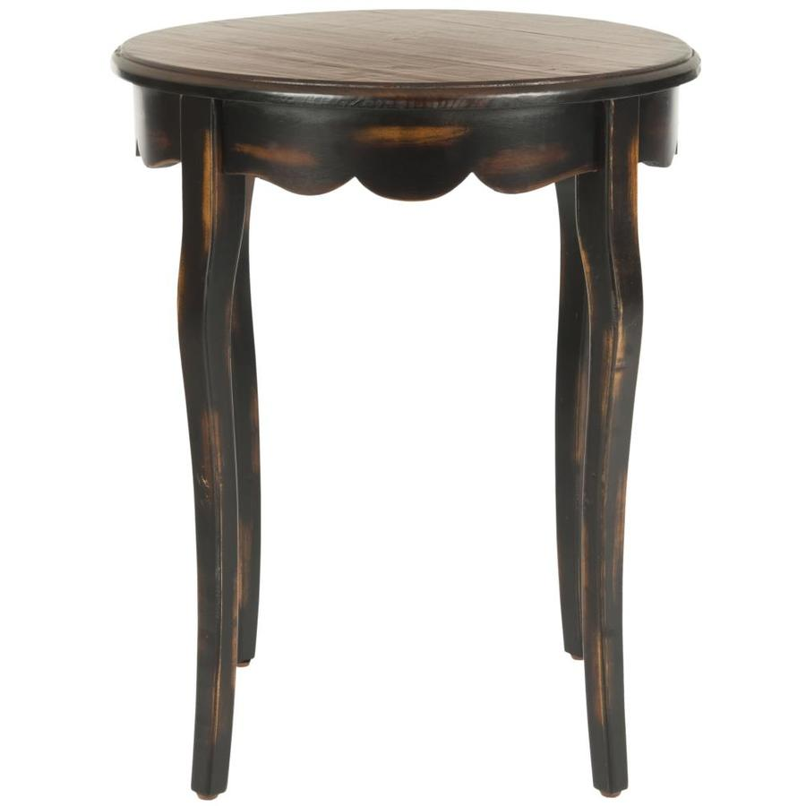 Safavieh American Home Tiger Dark Brown/Light Brown Fir Round End Table