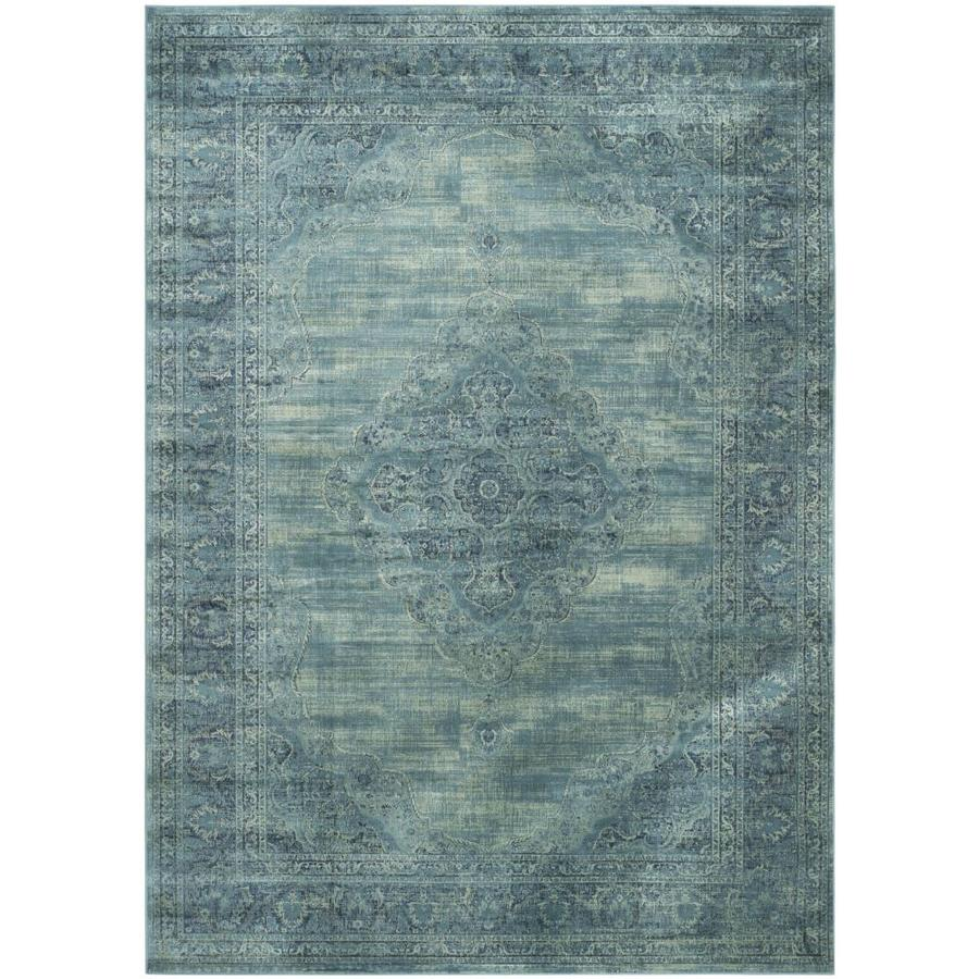 Safavieh Vintage Turquoise And Multi Colored Area Rug: Safavieh Vintage Mezra Turquoise Indoor Area Rug (Common