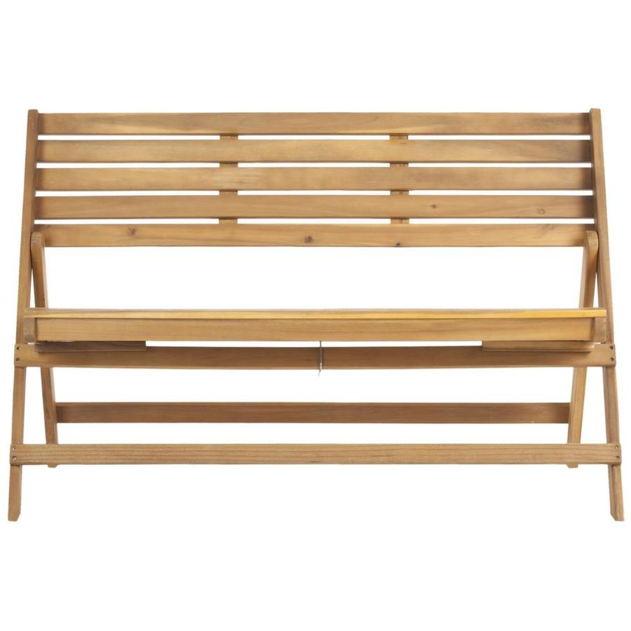 Safavieh Luca 48-in W x 22.8-in L Natural Brown Patio Bench