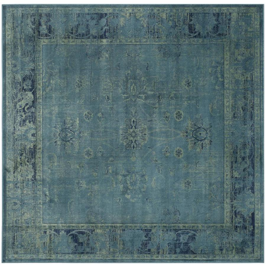 Safavieh Vintage Turquoise/Multi Square Indoor Machine-Made Distressed Area Rug (Common: 6 x 6; Actual: 6-ft W x 6-ft L)