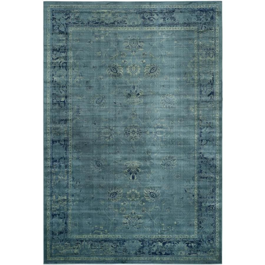 Safavieh Vintage Mosed Turquoise/Multi Rectangular Indoor Machine-made Distressed Area Rug (Common: 7 x 10; Actual: 7.5-ft W x 10.5-ft L)