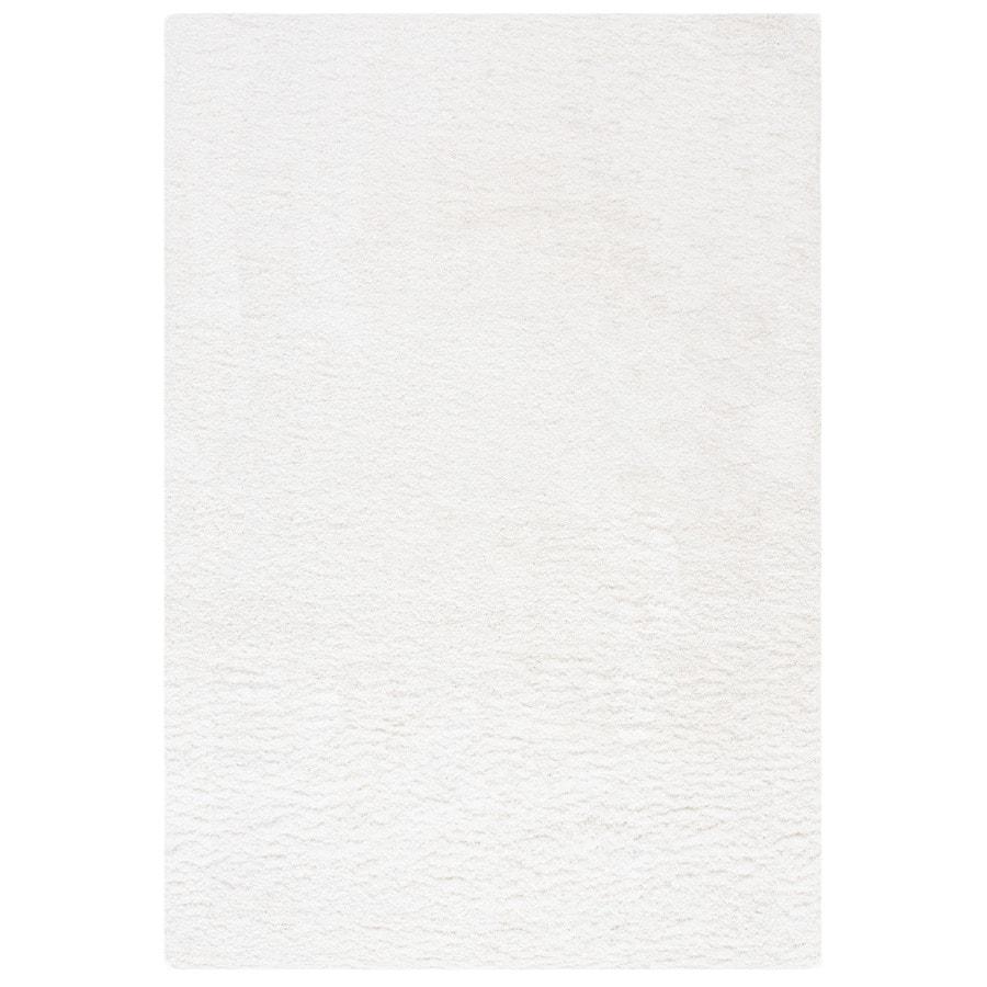 Safavieh California Shag White Rectangular Indoor Machine-made Area Rug (Common: 9 x 12; Actual: 9.5-ft W x 13-ft L)