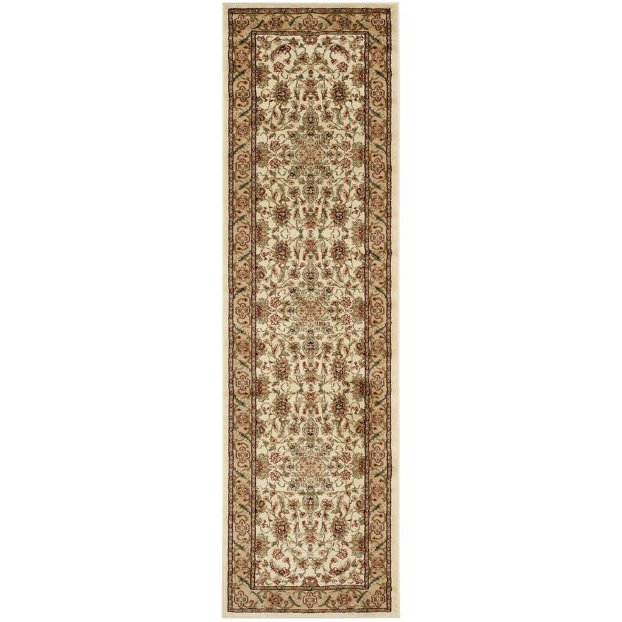 Safavieh Lyndhurst Mashad Ivory/Tan Indoor Oriental Runner (Common: 2 x 18; Actual: 2.25-ft W x 18-ft L)