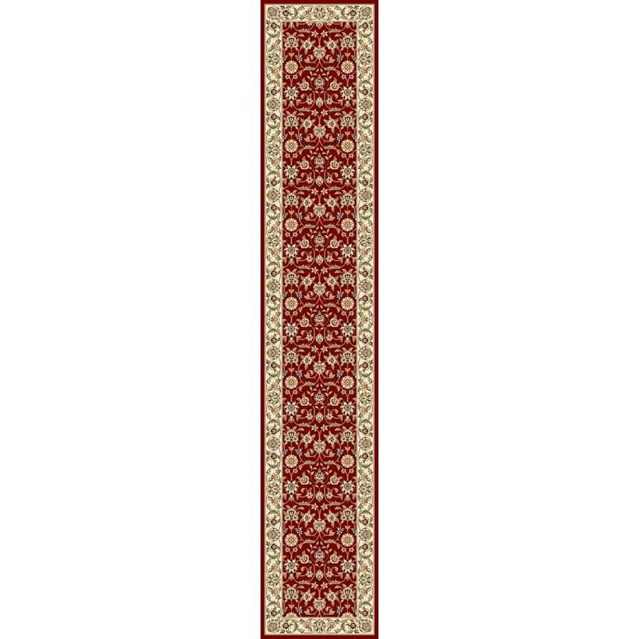 Safavieh Lyndhurst Qum Red/Ivory Rectangular Indoor Machine-made Oriental Runner (Common: 2 x 18; Actual: 2.25-ft W x 18-ft L)