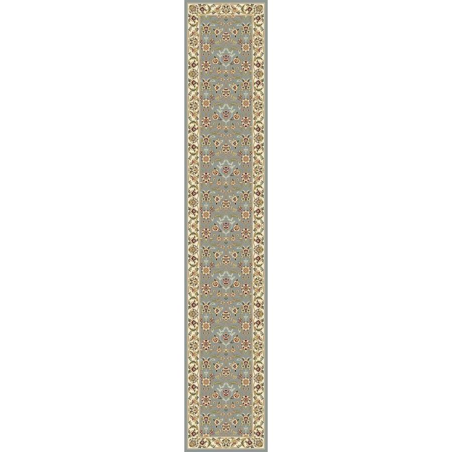 Safavieh Lyndhurst Qum Light Blue/Ivory Rectangular Indoor Machine-made Oriental Runner (Common: 2 x 18; Actual: 2.25-ft W x 18-ft L)