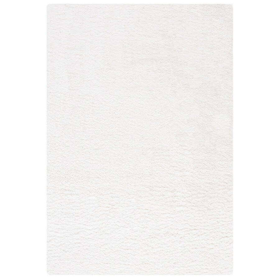 Safavieh California Shag White Indoor Throw Rug (Common: 3 x 5; Actual: 3-ft W x 5-ft L)