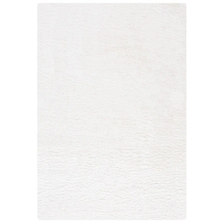 Safavieh California Shag White Rectangular Indoor Machine-Made Area Rug (Common: 4 x 6; Actual: W x L x 0-ft Dia)