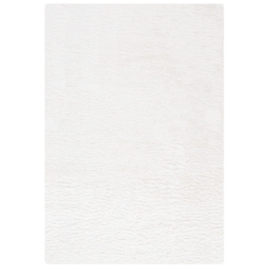 Safavieh California Shag White Rectangular Indoor Machine-Made Area Rug (Common: 5 x 7; Actual: W x L x 0-ft Dia)