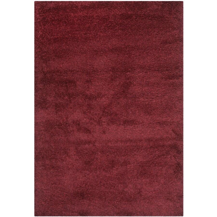 Safavieh California Shag Maroon Indoor Throw Rug (Common: 3 x 5; Actual: 3-ft W x 5-ft L)