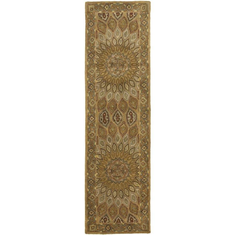 Safavieh Heritage Chador Light Brown/Gray Indoor Handcrafted Oriental Runner (Common: 2 x 14; Actual: 2.25-ft W x 14-ft L)