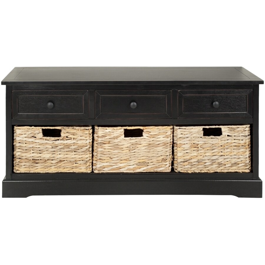 Safavieh American Home Black 0-Shelf Office Cabinet