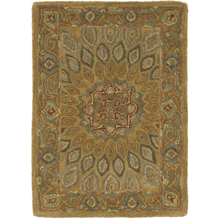 Safavieh Heritage Chador Light Brown/Gray Indoor Handcrafted Oriental Throw Rug (Common: 3 x 5; Actual: 3-ft W x 5-ft L)