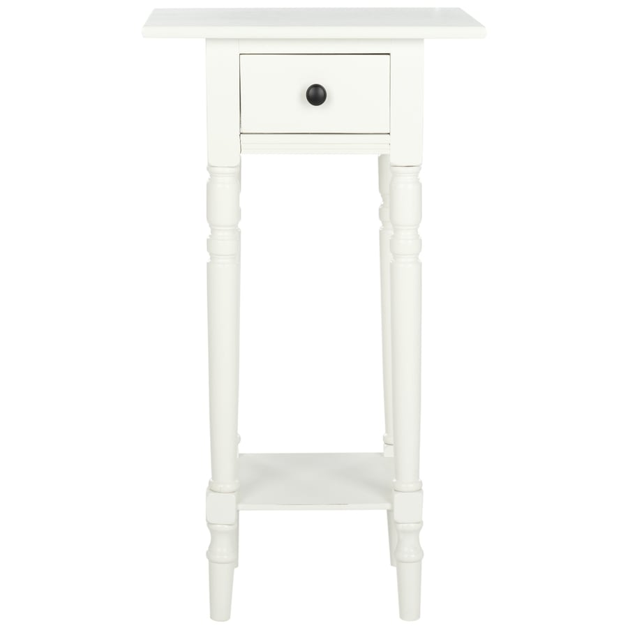 safavieh sabrina distressed cream wood casual end table - Distressed End Tables