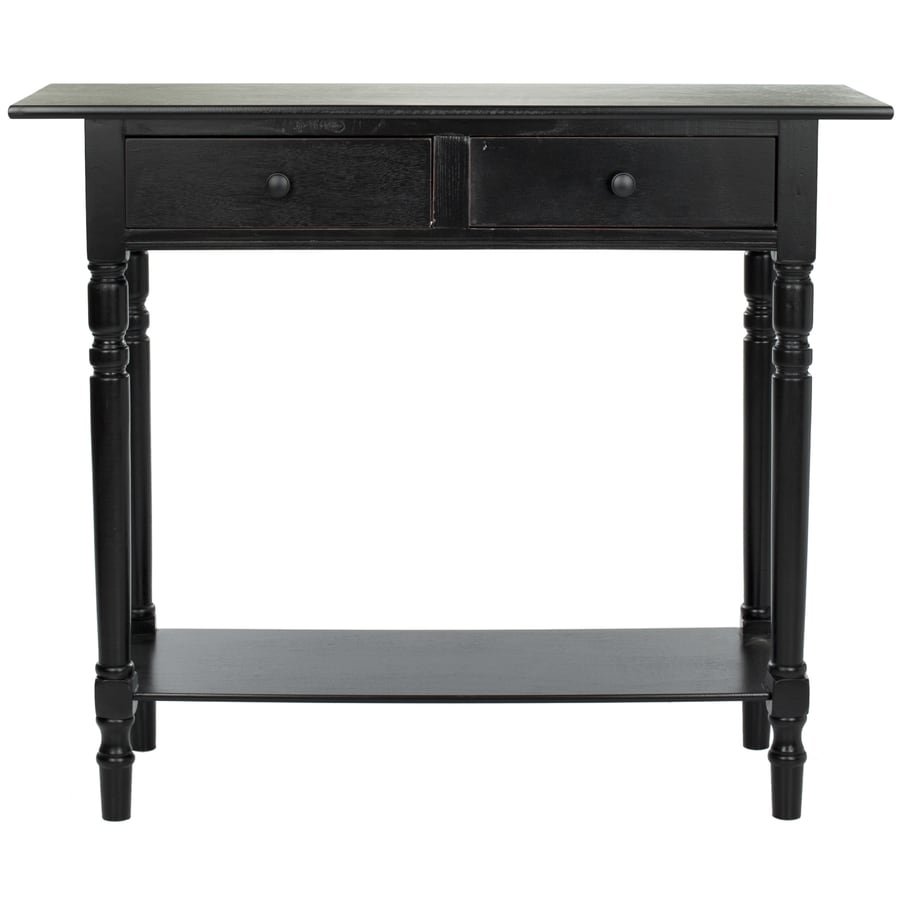 Safavieh Rosemary Distressed Black Pine Console Table