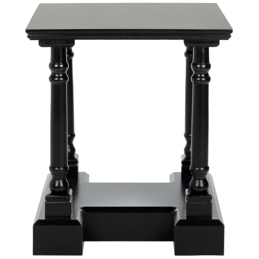 Safavieh American Home Distressed Black Pine Square End Table