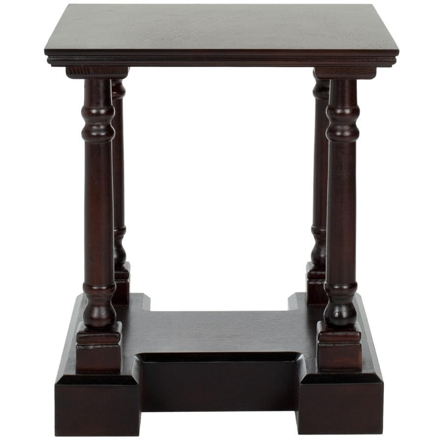 Safavieh American Home Dark Cherry Pine Square End Table