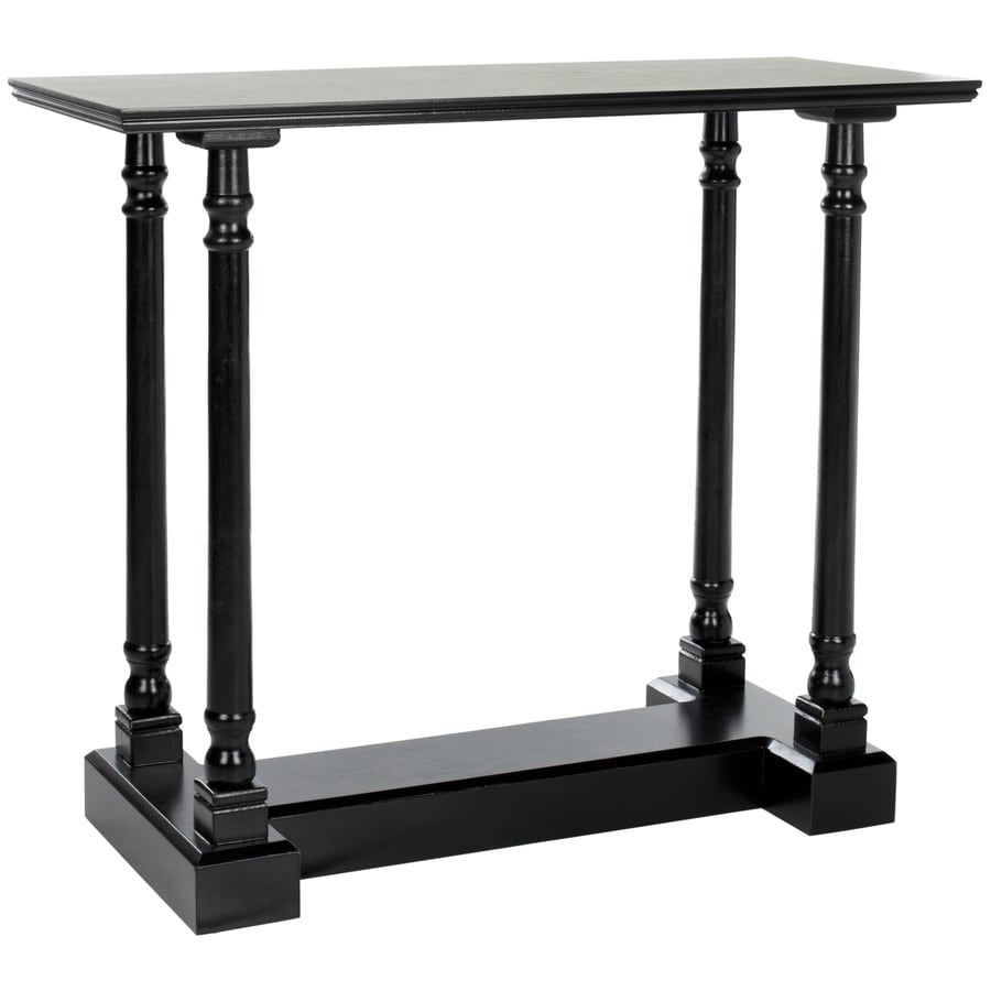 Safavieh Regan Distressed Black Wood Casual Console Table