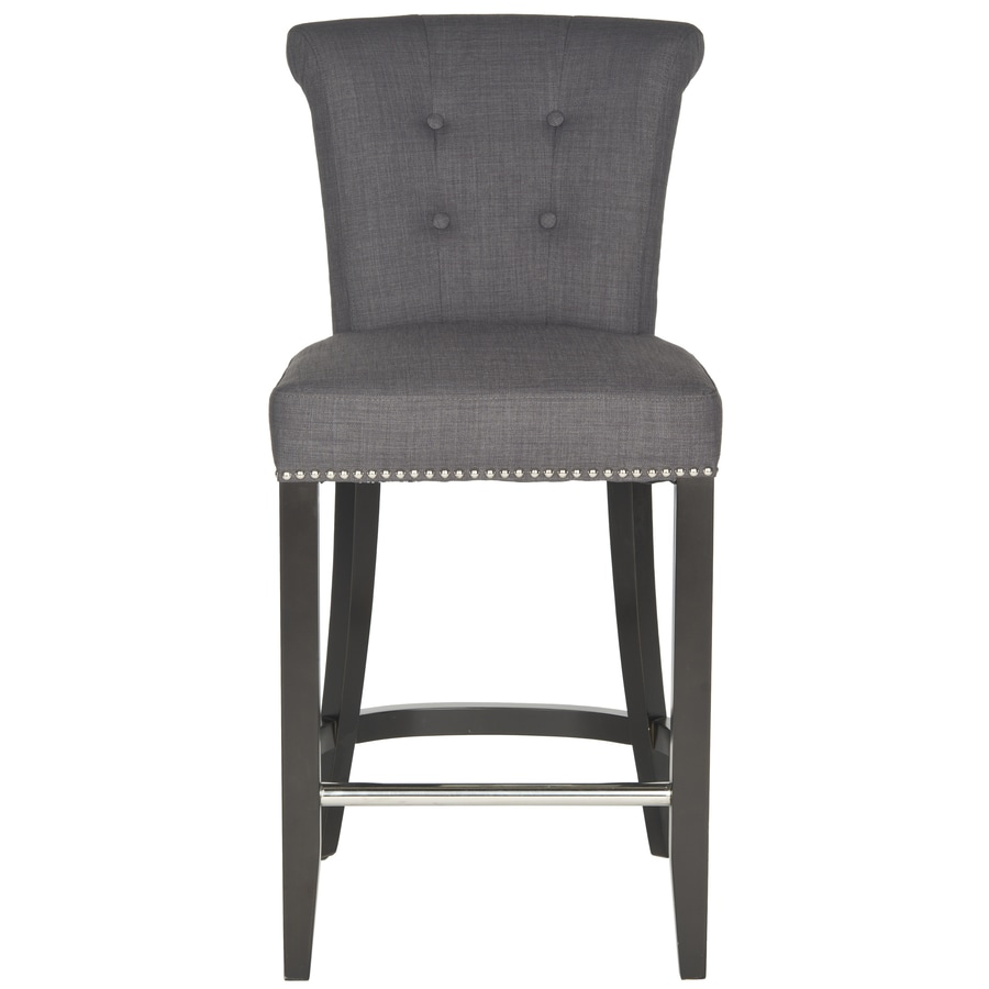 Shop Safavieh Addo Ring Modern Charcoal Counter Stool At