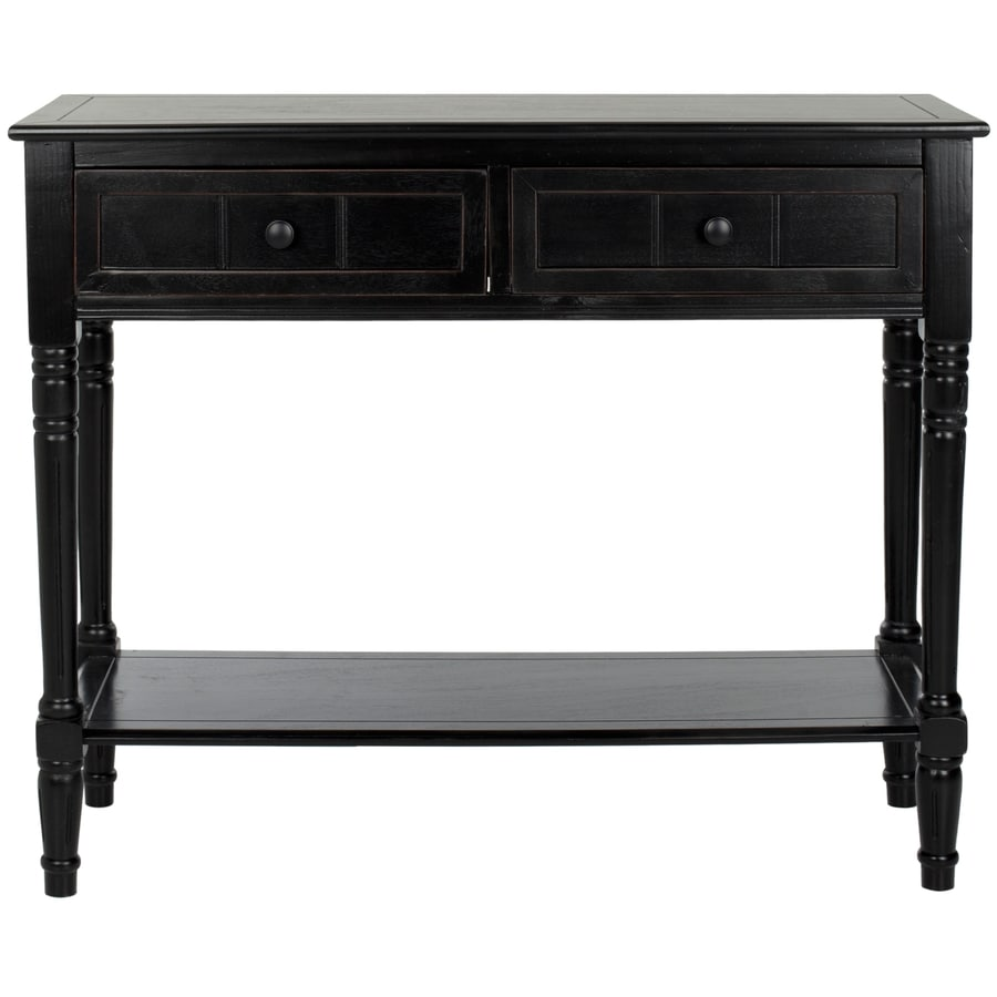 Merveilleux Safavieh Samantha Distressed Black Wood Casual Console Table