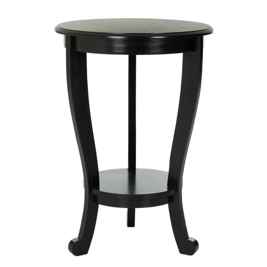Safavieh Mary Distressed Black Wood Casual End Table At